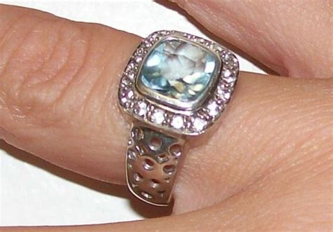grandidierite engagement ring sky blue white topaz silver ring mtgw 2 392ct metal
