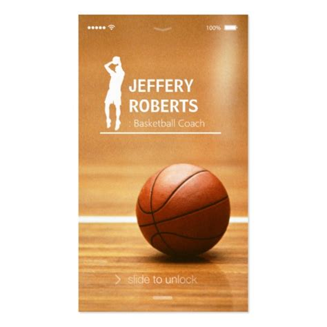 Basketball Coach Business Card Template by Creative Basketball Coach Basketball Trainer Business Card