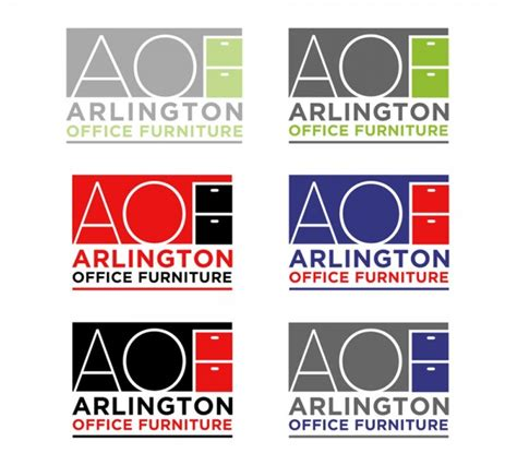 arlington office furniture logo logo design
