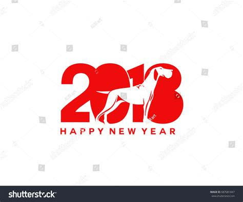 new year 2018 malaysia happy new year icon dogs year stock vector 687681847