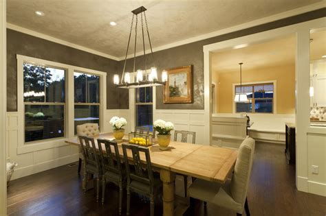 northwest craftsman dining room traditional dining