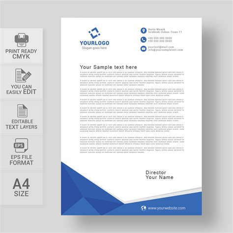 personal letterhead templates flexible illustration and envelop b
