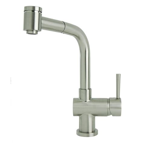 brushed nickel single handle kitchen faucet lsh single handle pull out sprayer kitchen faucet in