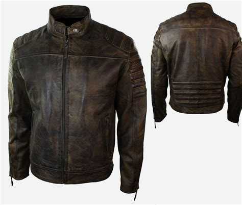 mens leather motorcycle jackets biker mens retro vintage biker motorcycle jacket