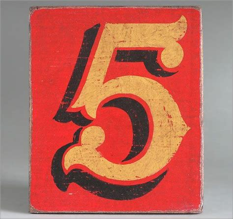 number 5 typography vintage painted number 5 late exterior paint