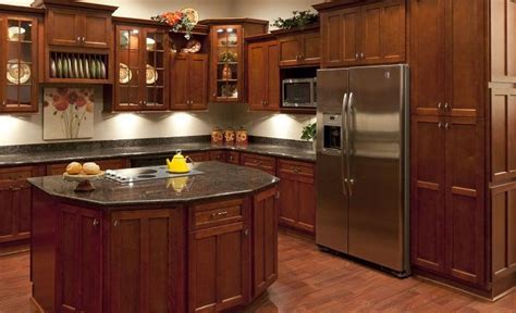 photos of kitchens with cherry cabinets cherry shaker kitchen cabinets rta kitchen cabinets