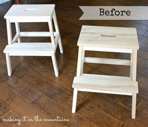 ikea step ladder a quick and easy ikea step stool makeover