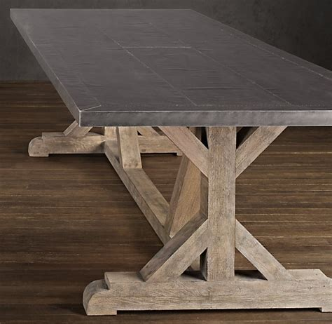Zinc Top Table Restoration Hardware Elements Of