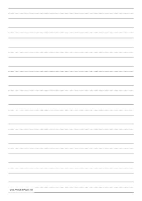 printable lined paper 5th grade printable penmanship paper with ten lines per page on a4