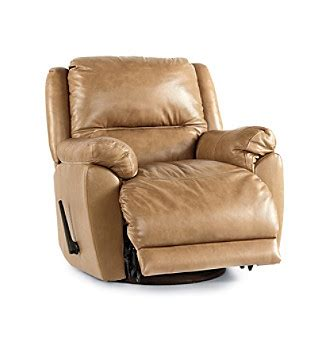 Lane Orbit Swivel Glider Recliner Leather Living Room