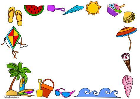 cornici per bambini cornicette estate tuttodisegni