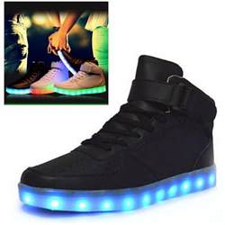 s light up shoes led couples high light up trainer lace up flat