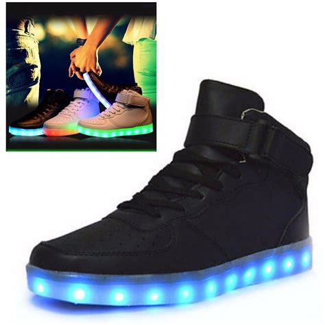 mens light up sneakers led light unisex womens light up trainer