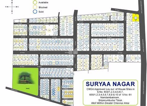 layout plan of surya nagar phase 2 leo suryaa nagar in nandambakkam chennai price floor