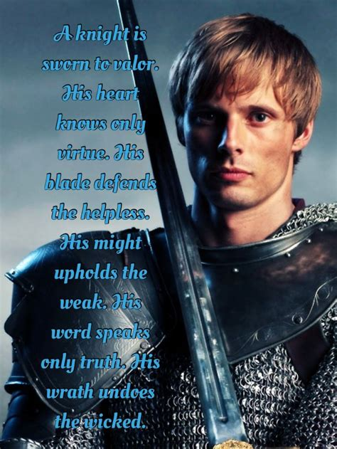 fantasy film quotes a knight is sworn to valor knight of the old code quote
