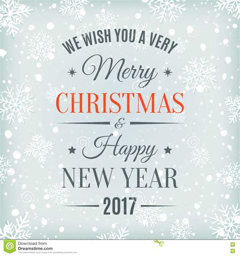 merry christmas  happy  year  stock vector illustration  design card
