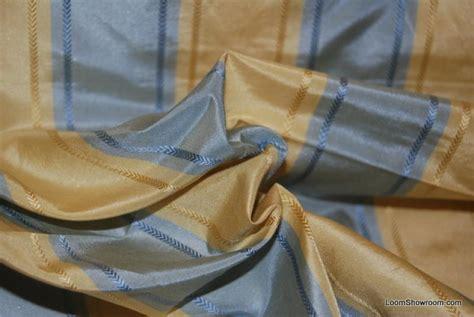 Regency Stripe Upholstery Fabric Hd752 Regency Style Sky Blue And Butter Yellow Gold