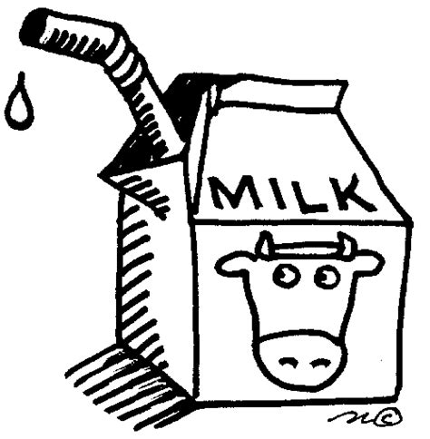 milk black and white clipart clipart suggest