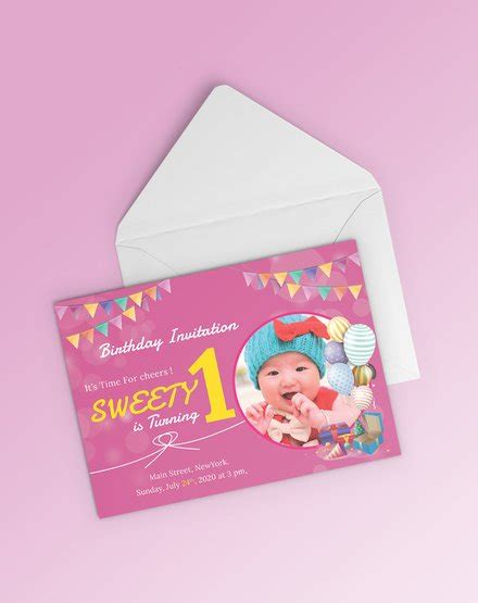 1st Birthday Card Template Word by Free Teddy Picnic Birthday Invitation Template