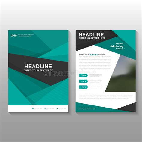 design proposal cover abstract green vector leaflet brochure flyer business