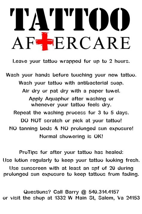 best tattoo care best care best aftercare