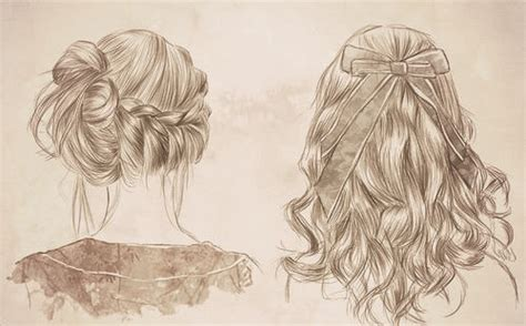 cool hairstyles drawing girly girl on tumblr