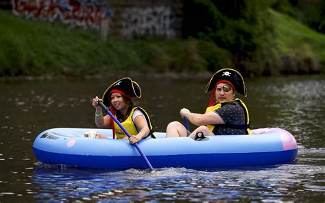 inflatable boat yarra river melbourne s yarra river inflatable regatta returns with