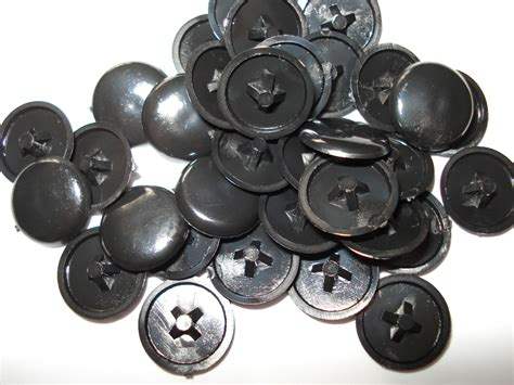 upholstery screws with caps 50 grey press fit pozi phillips screw cover caps ebay