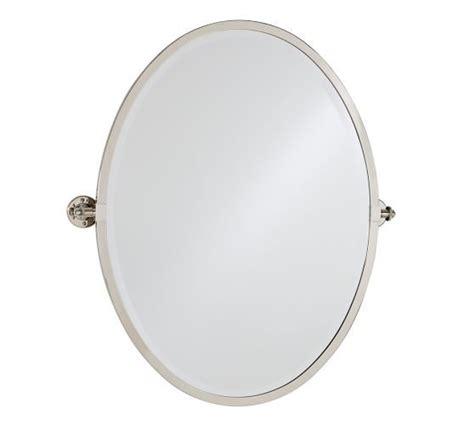oval pivot bathroom mirror kensington pivot oval mirror pottery barn master bath
