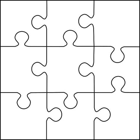puzzle template 8 pieces puzzles clip vector images illustrations istock