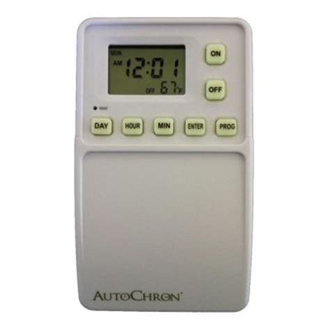 Light Timer Home Depot by Autochron Wireless Programmable Wall Switch Timer White Woods Outdoor Weatherproof Wireless