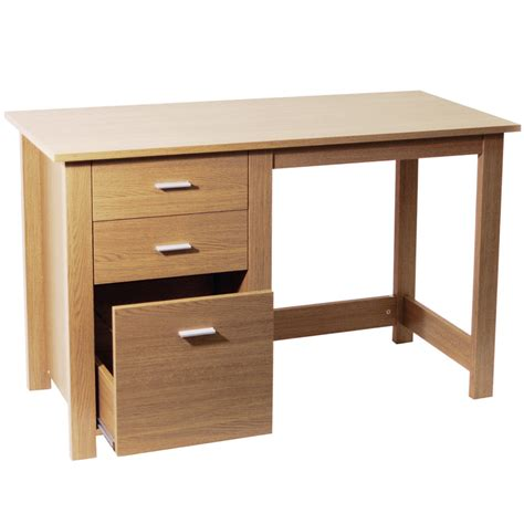Home Office Desks With Storage Montrose Home Office Storage Computer Desk Oak Of70769 Ebay
