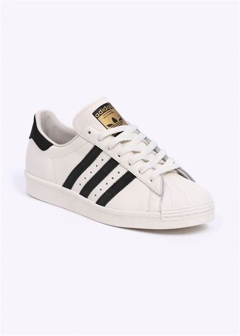 New Adidas Made In Black White adidas originals superstar 80s vintage deluxe trainers