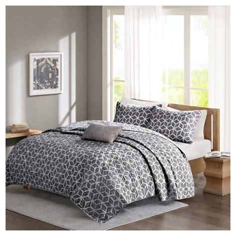 grey coverlet set gianna geometric coverlet set 4 piece grey target