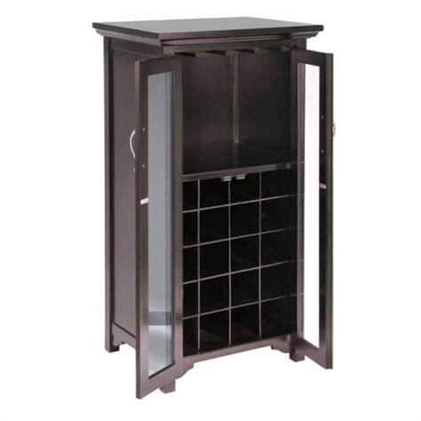 wine cabinet with glass door 20 bottle wine cabinet with doors in espresso 92722