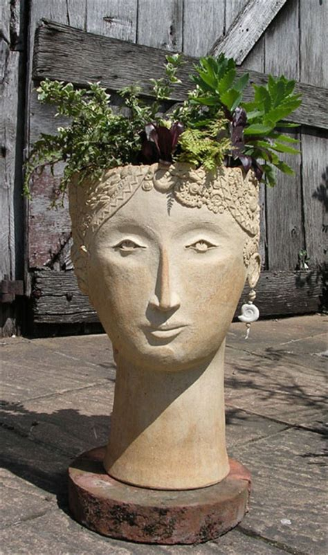 large head planters isis large head planter cookie scottorn ceramics