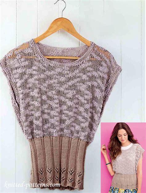 knitting patterns summer tops summer top knitting pattern