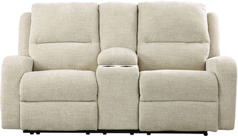power reclining sofa with adjustable headrest krismen sand power reclining console loveseat with