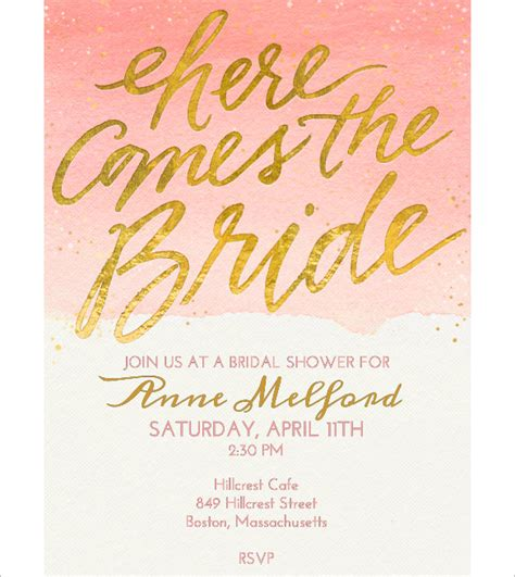 wedding shower invitations templates free free bridal shower invitation templates for word
