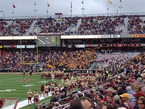 clemson student section boston college football on student attendance bc