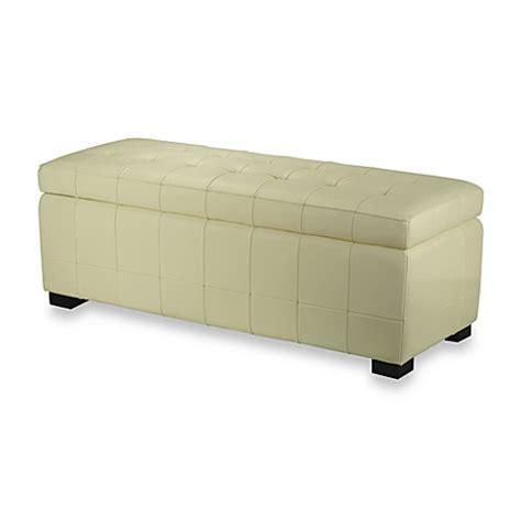 off white storage bench safavieh hudson leather large manhattan storage bench in