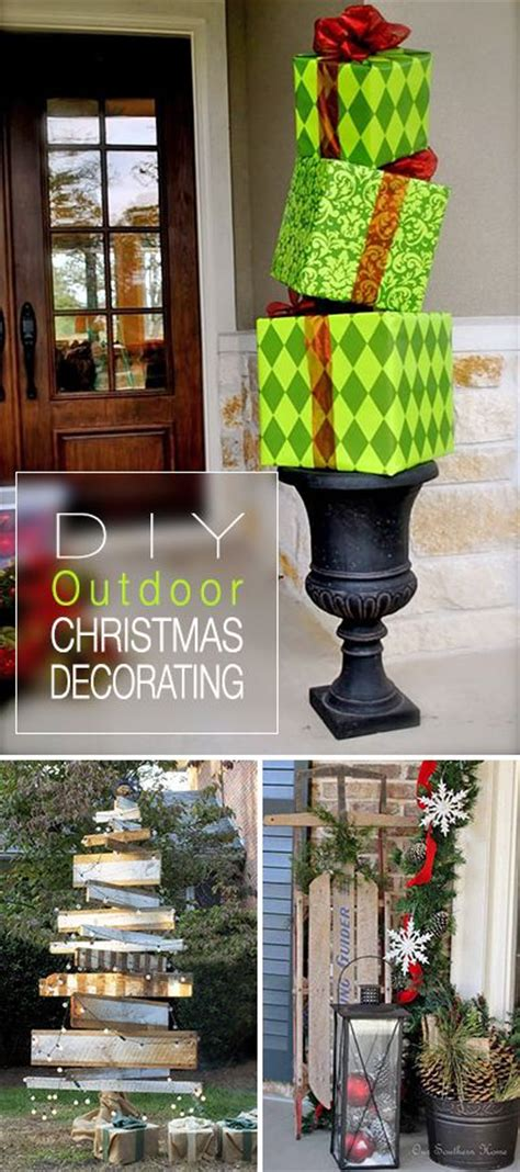 diy outdoor christmas decorating ideas christmas lights