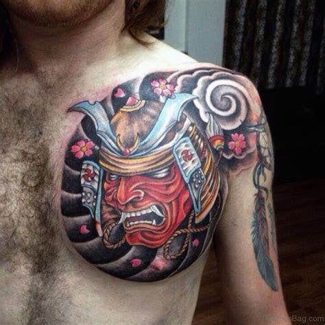 tattoo chest samurai 63 classic mask tattoos on chest