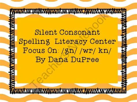 kn pattern words 17 best images about silent consonants on pinterest