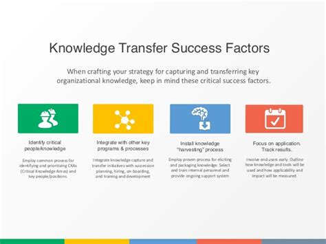 knowledge transfer success factors