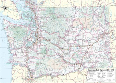 washington state map with cities large detailed tourist map of washington with cities and towns