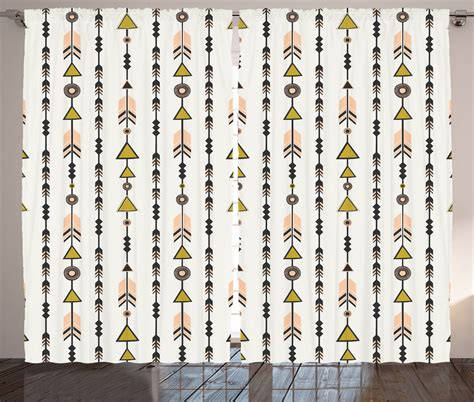 tribal pattern curtains tribal style arrow geometric patterns cultural boho print