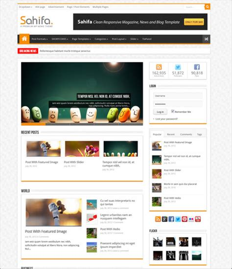 sahifa theme tutorial cool wordpress magazine themes 56pixels com