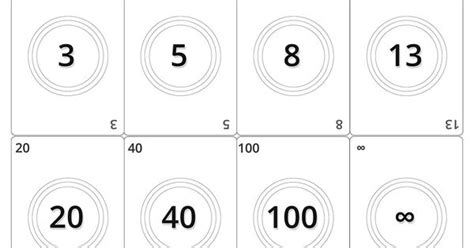 printable planning poker cards picture agile planning poker cards black and white