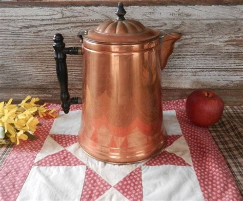 copper pots as kitchen decor remodelista antique copper coffee pot large size copper coffee pot